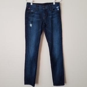 Hudson Distressed Skinny Leg Jeans